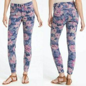 Joe's Jeans Floral High Water Pink Blue Skinny